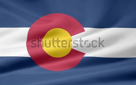 Zászló Colorado csillagok kék piros fehér Stock fotó © joggi2002