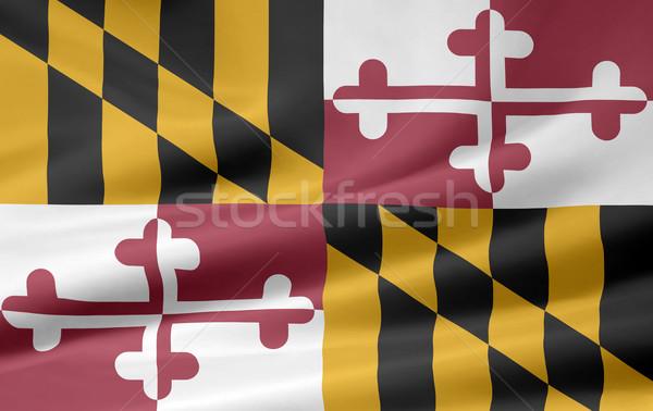 Bayrak Maryland Yıldız kırmızı beyaz ücretsiz Stok fotoğraf © joggi2002