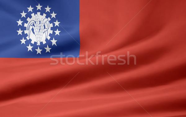 Bayrak Tayvan Asya bez afiş Çin Stok fotoğraf © joggi2002