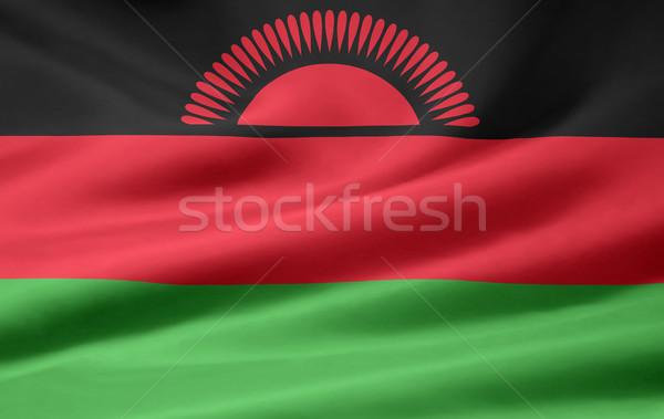 Zászló Malawi Afrika ruha szalag Stock fotó © joggi2002