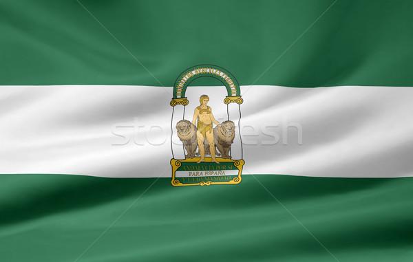 Flag of Andalusia - Spain Stock photo © joggi2002