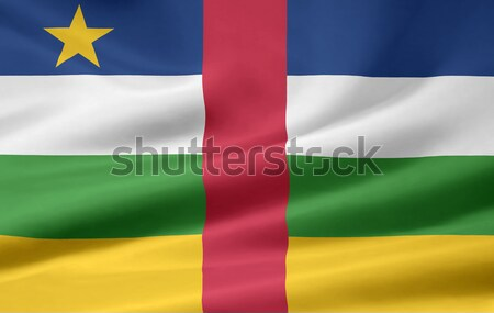 Bayrak merkezi Afrika cumhuriyet Stok fotoğraf © joggi2002