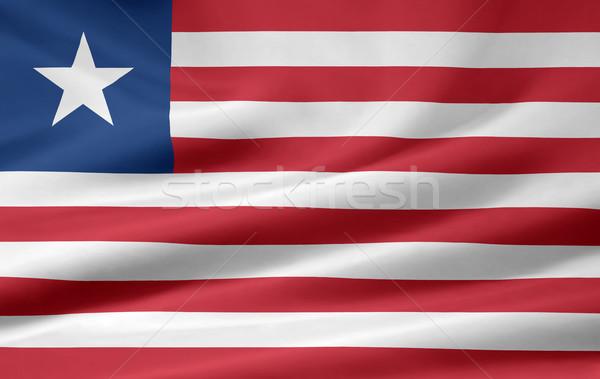 Zászló Libéria Afrika ruha szalag szimbólum Stock fotó © joggi2002