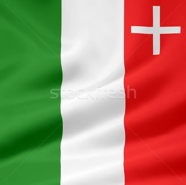 Flag of Neuchatel - Switzerland Stock photo © joggi2002