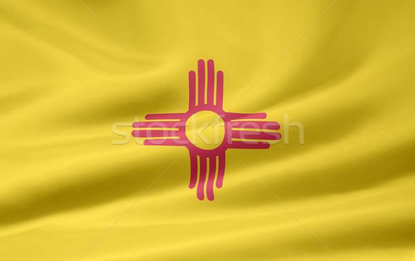 флаг Нью-Мексико звезды белый свободный ткань Сток-фото © joggi2002