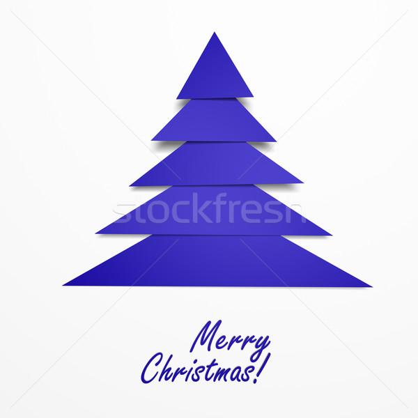 Soyut noel ağacı neşeli Noel tebrik dizayn Stok fotoğraf © joggi2002