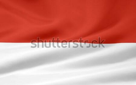 Zászló Monaco Európa vidék ruha textil Stock fotó © joggi2002