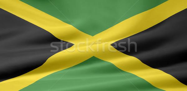 Hoog vlag Jamaica zee eiland Stockfoto © joggi2002