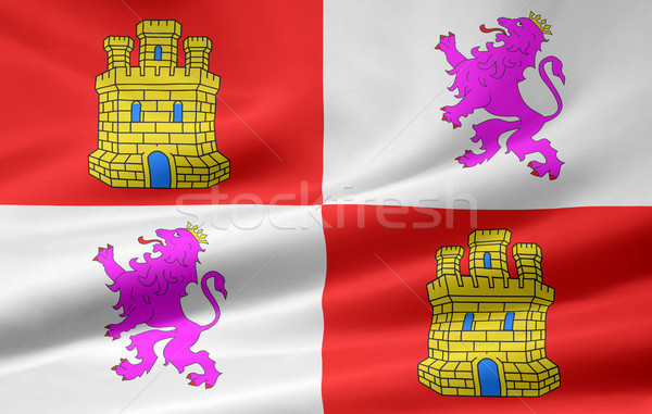 Flag of Castile and Leon - Spain  Stock photo © joggi2002