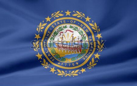 Zászló New Hampshire nagy csillagok piros fehér Stock fotó © joggi2002