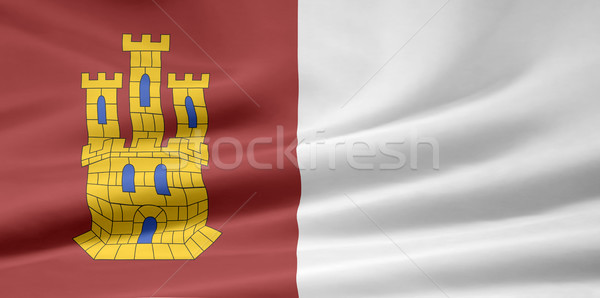 Flag of Castile-La Mancha - Spain  Stock photo © joggi2002