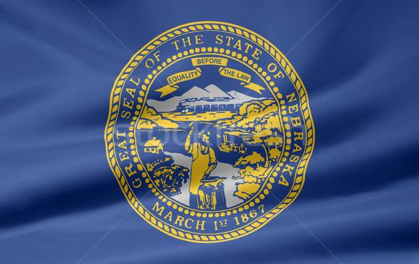 Bayrak Nebraska Yıldız kırmızı beyaz ücretsiz Stok fotoğraf © joggi2002