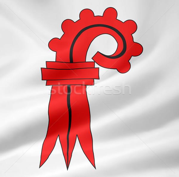 Flag of Basel Country - Switzerland Stock photo © joggi2002