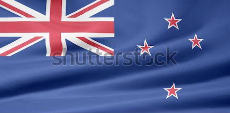Magas döntés zászló Új-Zéland terv sziget Stock fotó © joggi2002