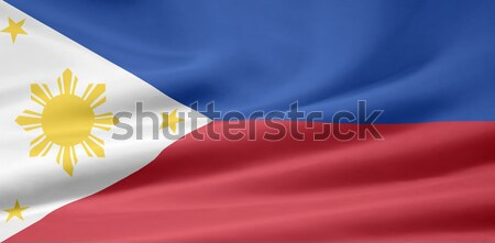 High resolution flag of the Philippines Stock photo © joggi2002