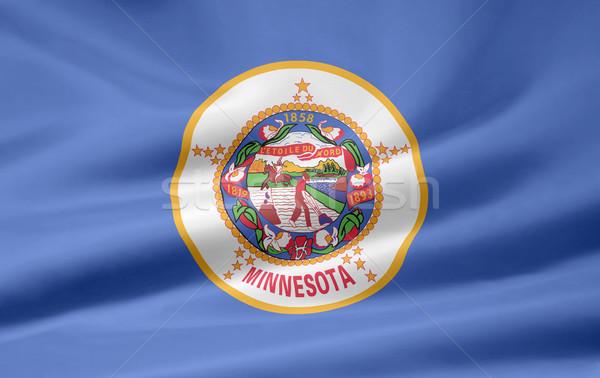 Zászló Minnesota fehér szabad ruha textil Stock fotó © joggi2002