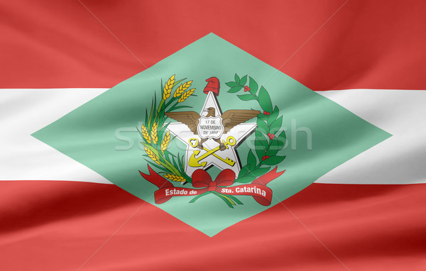 Flag of Santa Catarina - Brasil Stock photo © joggi2002