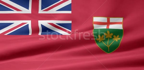 Zászló Ontario Kanada szél vidék ruha Stock fotó © joggi2002
