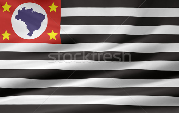 Flag of Sao Paulo - Brasil Stock photo © joggi2002
