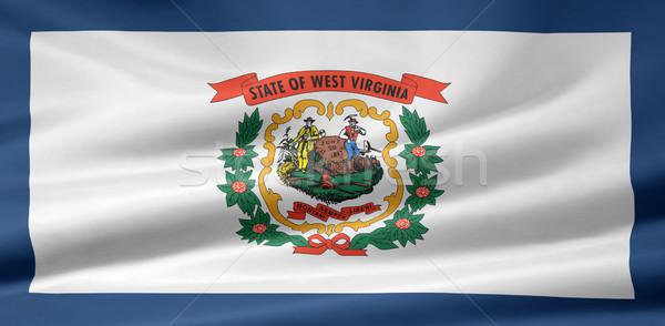 Bandiera Virginia Occidentale stelle blu rosso bianco Foto d'archivio © joggi2002