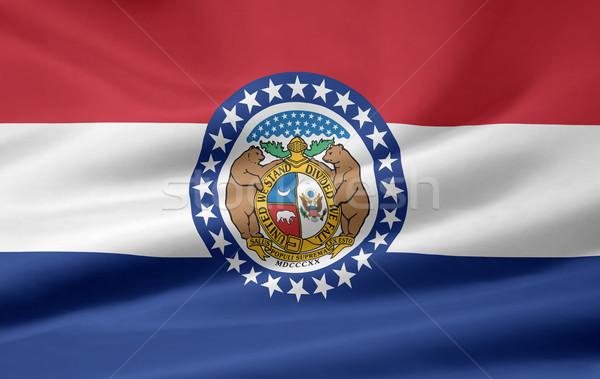 Bandeira Missouri estrelas azul vermelho branco Foto stock © joggi2002