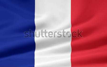 Bayrak Fransa ülke bez afiş örnek Stok fotoğraf © joggi2002