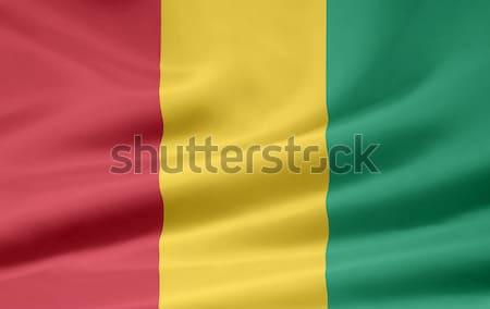 Bayrak Gine Afrika bez afiş simge Stok fotoğraf © joggi2002