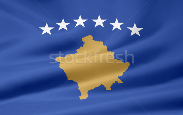 Magas döntés zászló Koszovó Európa vidék Stock fotó © joggi2002