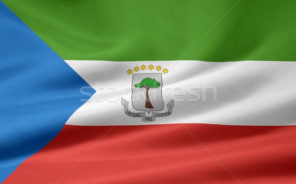 Bandeira Guiné Equatorial África pano bandeira símbolo Foto stock © joggi2002