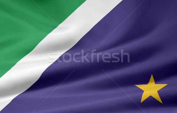 Bayrak Brezilya dizayn yeşil ülke bez Stok fotoğraf © joggi2002