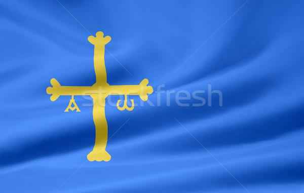 Flag of Asturia - Spain  Stock photo © joggi2002