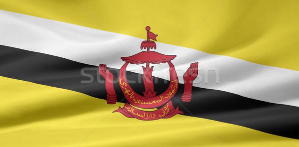 флаг Бруней Азии ткань Ислам текстильной Сток-фото © joggi2002