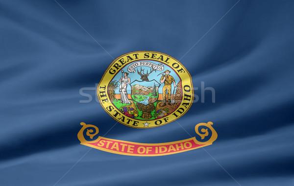 Bayrak Idaho Yıldız mavi kırmızı beyaz Stok fotoğraf © joggi2002