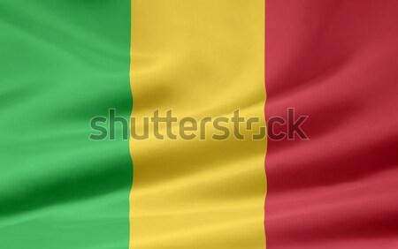 Bayrak Mali Afrika bez afiş simge Stok fotoğraf © joggi2002