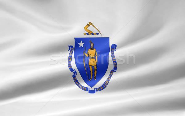 Stock photo: Flag of Massachusetts