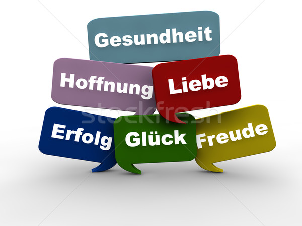 Good Wishes in German Stock photo © joggi2002