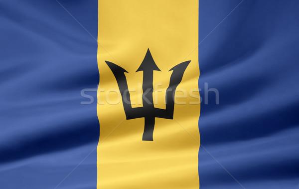 Bandeira Barbados pano comunidade bandeira caribbean Foto stock © joggi2002