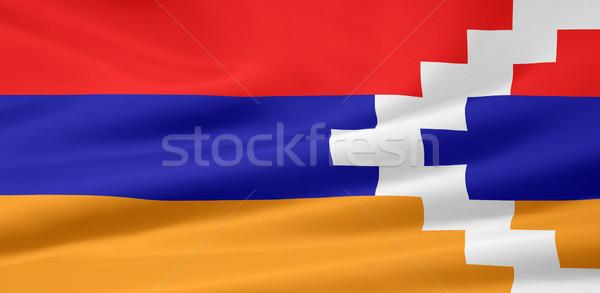 Zászló terv ruha textil Azerbajdzsán szimbólum Stock fotó © joggi2002