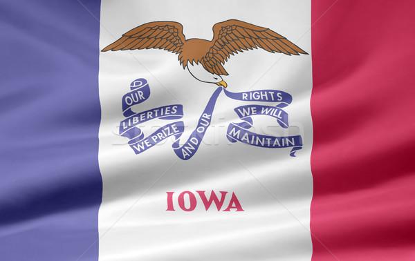 флаг Айова звезды красный белый свободный Сток-фото © joggi2002