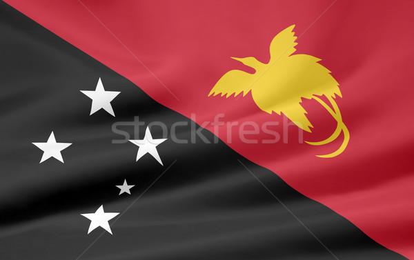 высокий разрешение флаг Папуа-Новая Гвинея стране ткань Сток-фото © joggi2002