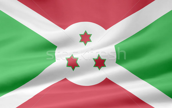 Bandeira Burundi África pano bandeira Foto stock © joggi2002