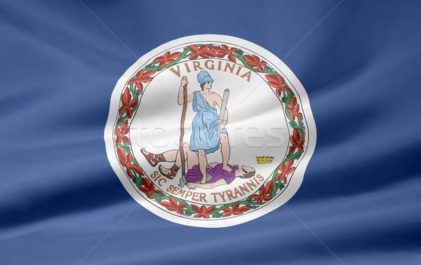 флаг Виргиния пляж звезды красный белый Сток-фото © joggi2002