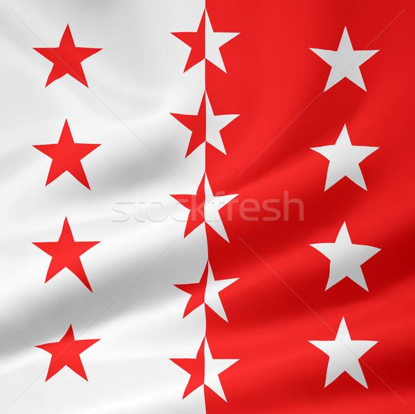 Flag of Valais - Switzerland Stock photo © joggi2002
