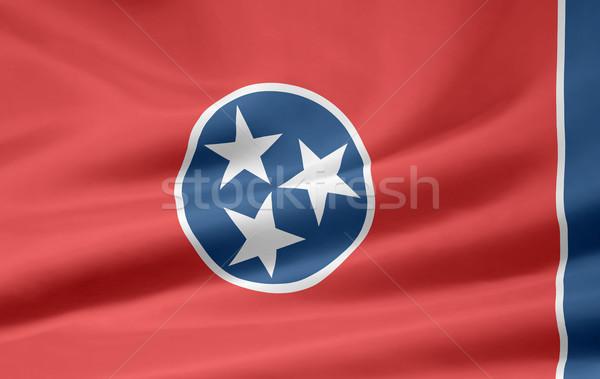 Banderą Tennessee gwiazdki czerwony biały wolna Zdjęcia stock © joggi2002