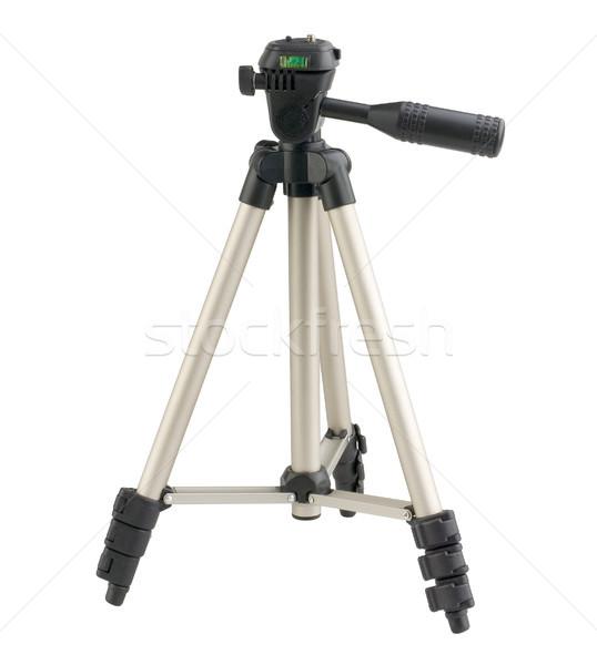Stock photo: Mini compact camera tripod on white
