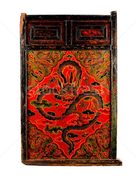 Eski boyama kapı öykü budizm din Stok fotoğraf © JohnKasawa
