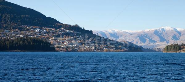 A happy sunny day along Wakatipu lake Queenstown Southern island Stock photo © JohnKasawa