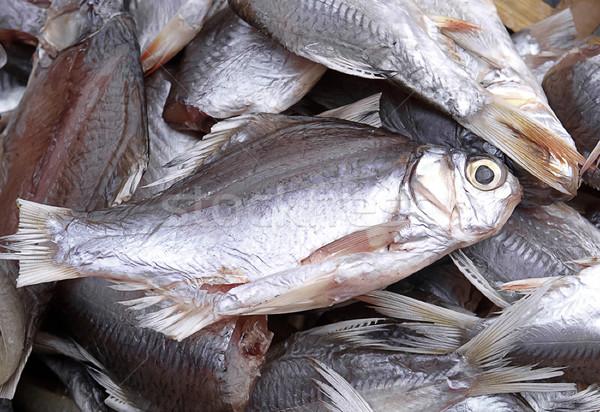 Dried sea fishes ready to cooking at the seafood market  Stock photo © JohnKasawa