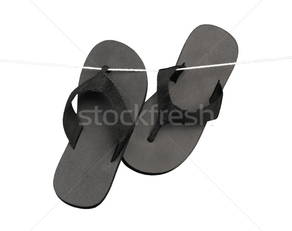 Black slipper hanging  Stock photo © JohnKasawa