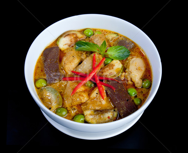 Thai ódivatú zöld curry hal édes Stock fotó © JohnKasawa